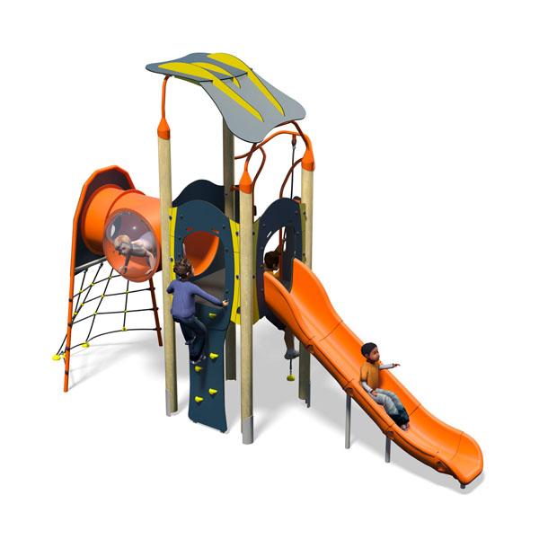 Samba Plus-Blue Yellow-Inc Roof-Inc Kids-Plastic Slide.jpg