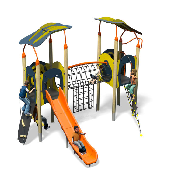 Breakbeat Plus-Blue Yellow-Inc Kids-Inc Roofs-Plastic Slide.jpg