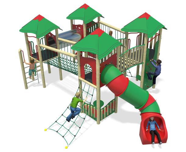 heavy metal-plastic slide-red & green-inc roofs.jpg