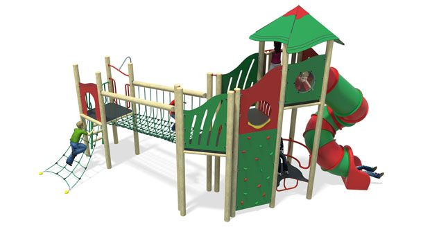 high volume 7-plastic slide-red & green.jpg