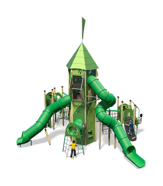 Everest Plus-All Green-Inc Kids-Plastic Slide.jpg